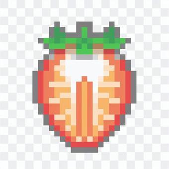 草莓截面像素藝術