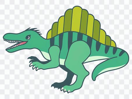 Illustration of a spinosaurus