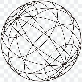 球體(黑框)