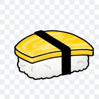 雞蛋壽司(輪廓)