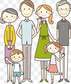 Simple person _ 6 people family