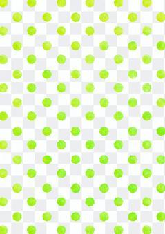 水彩圓點波爾卡圓點紋理黃綠色垂直