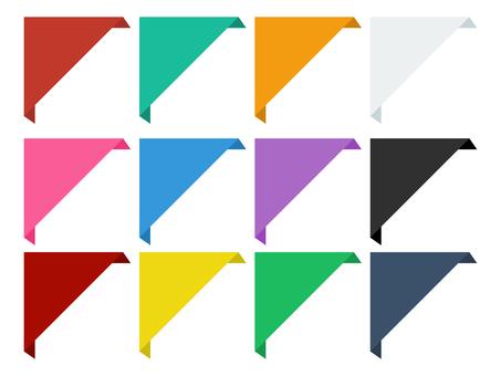 素色彩色角絲帶裝飾