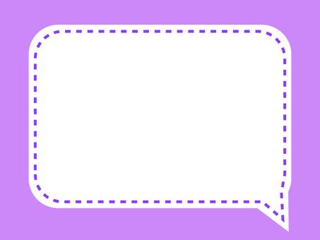 Simple stitch square balloon frame: purple