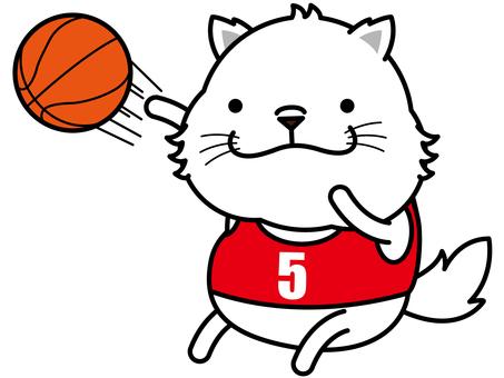 Dog basketball shoot