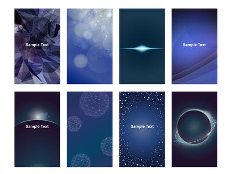 Business card size glow geometric pattern frame card