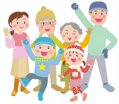 冬天的精力充沛的家庭第2部分