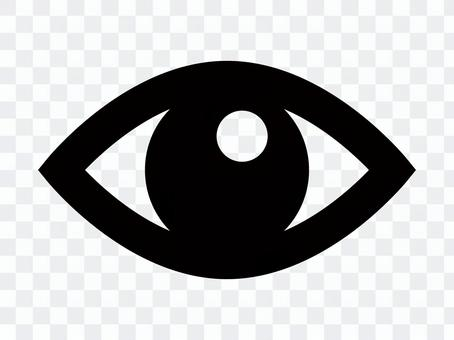 Simple eye silhouette icon material