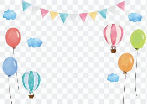 氣球氣球與水彩的標誌