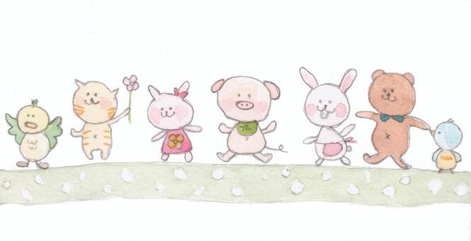 可愛的動物插圖2