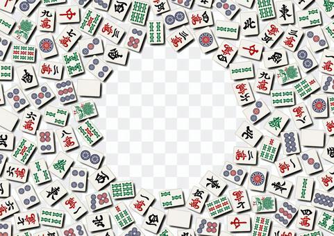 麻雀牌のフレーム マージャンのイメージ
