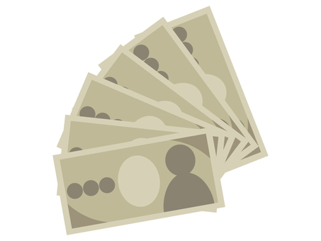 多張 10,000 日元紙幣