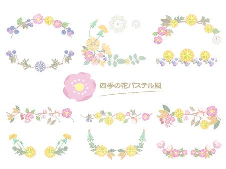 四季之花_裝飾框粉彩01