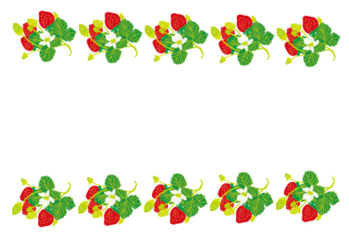 Strawberry message card POP card
