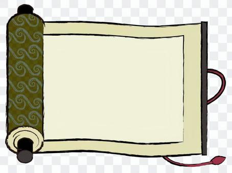 Japanese style material Scroll of the Edo period