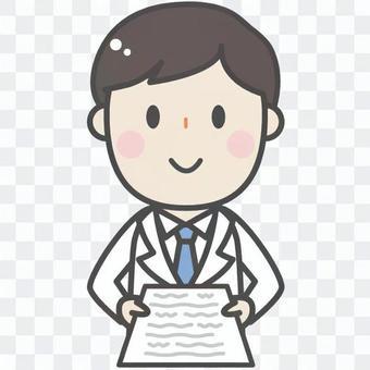 Cute white coat male - doctor doctor pharmacist