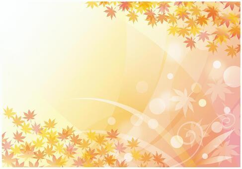秋天的落葉和秋風