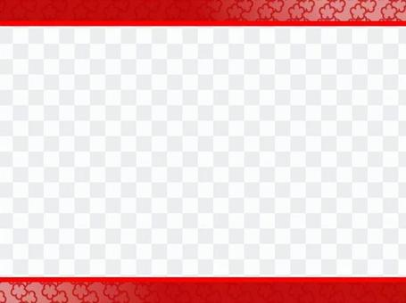 日本框架(漸變·鮮花·紅色)