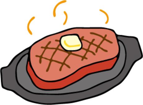 厚切りステーキ