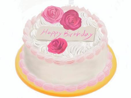 玫瑰生日蛋糕
