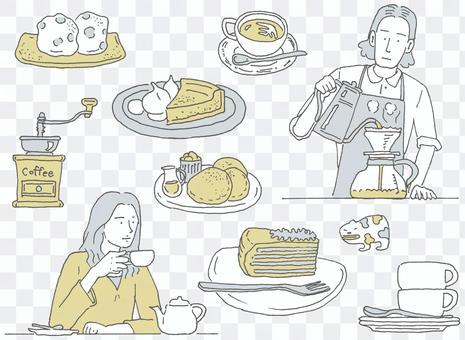 咖啡和甜點