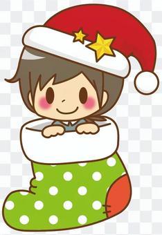 男孩*聖誕節襪子