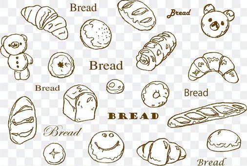 手繪的麵包