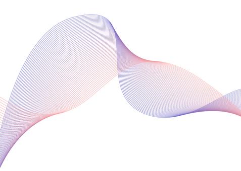Line art purple gradient