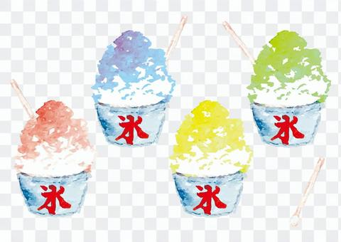 """""""Watercolor style"""" shaved ice"""