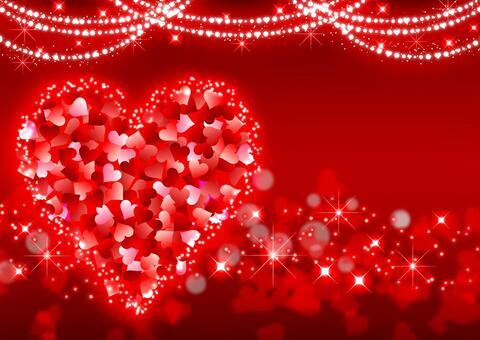 心臟閃光的明亮的紅色背景