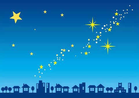 星空和城市
