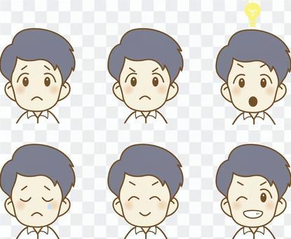 酷商男【面部表情】