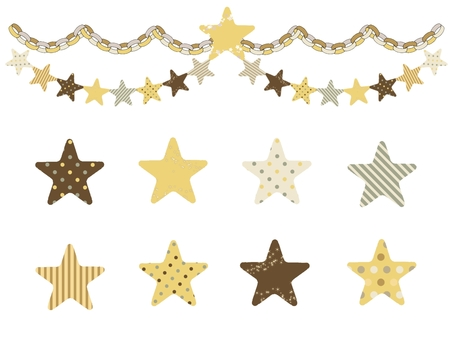 Stars and ring decoration (honey color)