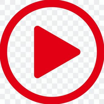 電影播放按鈕_ 04 _紅色
