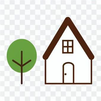 Image of single-family home and wood