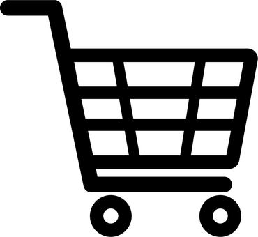 Shopping cart icon (black)