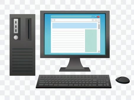 Surf the web with a computer