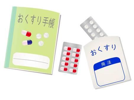 Medicine notebook and medicine