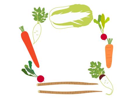 冬菜架 胡蘿蔔、大白菜等。