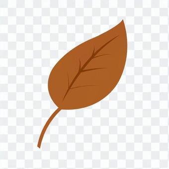 落葉(茶)2