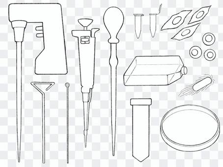 Laboratory equipment used for cell culture and genetic experiments