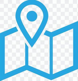 Map marker icon illustration
