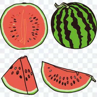 How to cut watermelon red