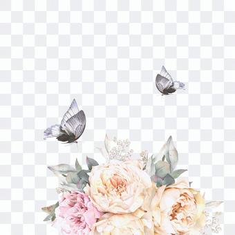花框架249  - 秋季玫瑰花框架装饰框架