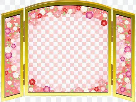 豪华的梅花屏幕折叠02