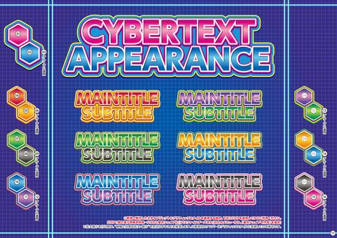 Cyber-like appearance characters