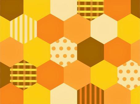 蜂窩蜂蜜色瓷磚壁紙