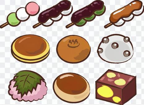 手繪日本甜點
