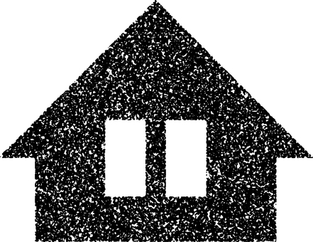 Stamp style simple house my home