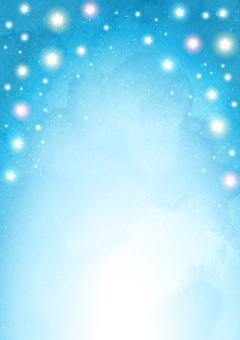 多彩星星星空背景垂直